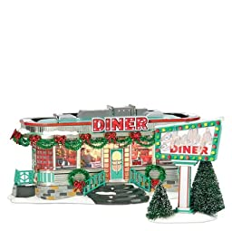 Department 56 Snow Village Shelly\'s Diner
