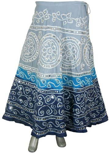 India Clothing Cotton Multicolor Skirt for Girls India