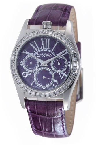 Haurex Italy Women's 8S331DPP Promise Purple Dial Watch