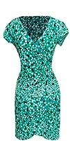 Elegant Faux Wrap Printed Dress