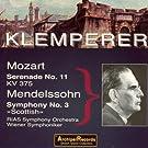 Mozart: Serenade No. 11 - Mendelssohn: Symphony No. 3