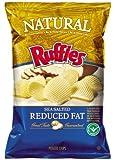 Frito Lay Ruffles Natural Sea Salt Flavored Potato Chips, 8oz Bags (Pack of 6)