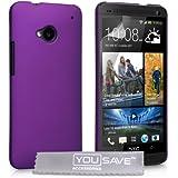 HTC One Tasche Lila Harte Hybride Hülle