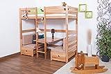 Kinderbett-Etagenbett-Funktionsbett-Tim-umbaubar-zu-einem-Tisch-mit-Bnken-oder-zu-2-Einzelbetten-Buche-massiv-natur-inkl-Rollrost-90-x-200-cm