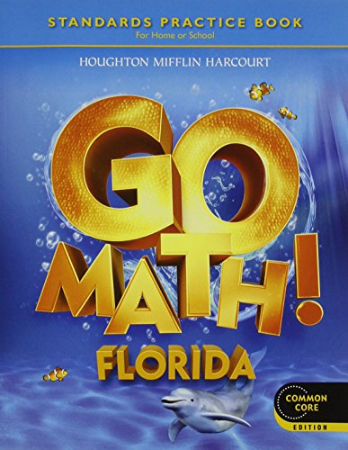 Houghton Mifflin Harcourt Go Math Florida: Practice Book Grade K