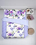 Spaces Courtyard Cotton Double Comforter - Purple