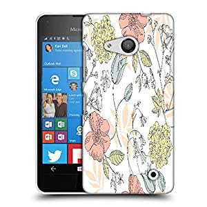 Snoogg seamless vintage flower pattern Designer Protective Back Case Cover For Nokia Lumia 550