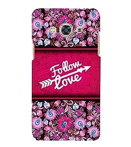 Follow Love 3D Hard Polycarbonate Designer Back Case Cover for Samsung Galaxy J3 Pro