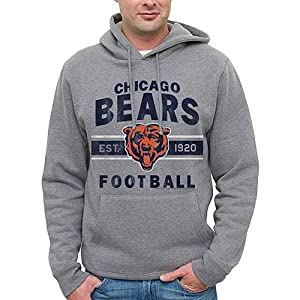 NFL Chicago Bears Team Arch Pullover Hoodie - Heathered Gray from Junk Food