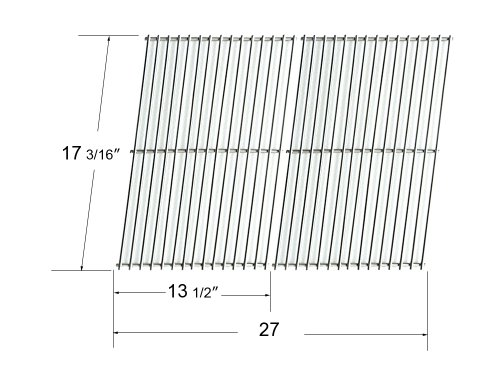 59812 - Brinkmann, Grill Master, Nexgrill And Uniflame Gas Grill Replacement Stainless Steel Cooking Grid/Cooking Grates