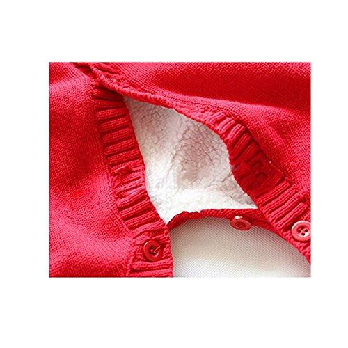 C&h Baby Rompers-baby Winter Coat Footie(red 9-18months)