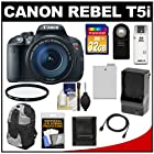 Canon EOS Rebel T5i Digital SLR Camera & EF-S 18-135mm IS STM Lens with 32GB Card + Battery & Charger + Backpack + Filter + HDMI Cable + Accessory Kit