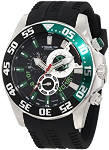 Stuhrling Original Men's 287A.331671 Nautical Nautico Sport Swiss Quartz Multi-Function Black Watch