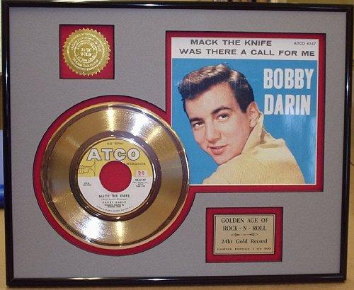 """Bobby Darin """"Mack The Knife"""" Framed 24Kt Gold Record"""
