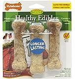 Nylabone Healthy Edibles Regular Roast Beef Flavored Dog Treat Bones, 3 Count