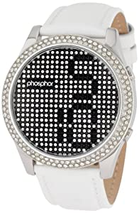 Phosphor Women's MD004L Appear Collection Fashion Crystal Mechanical Digital Watch