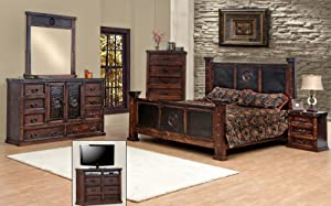 king size copper creek bedroom set dark stain