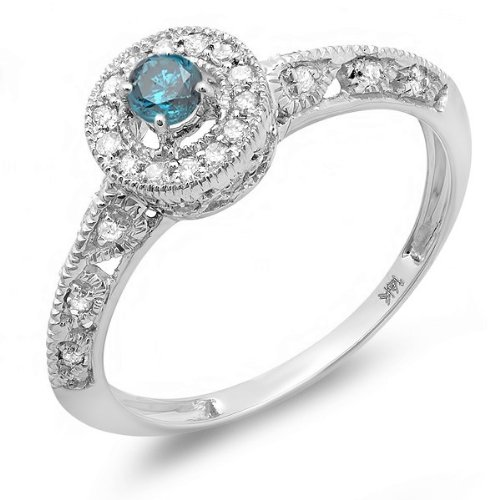 Finetresor Antique Sapphire And Diamond Engagement Ring On White Gold At Affordable Price