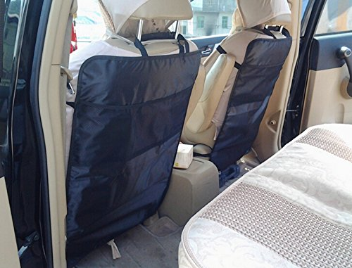 EFORCAR(R) 1PCS Protective Anti Kicking Padded Child/Baby Car Seat Back Scuff Dirt Protector Mat Cover Black