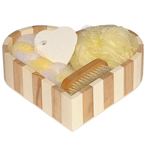 Bath accessory set for women or men body sponge pumice for Mens bath set