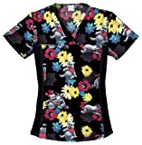Tooniforms 6875C Women's Disney Cotton Flexibles Print Scrub Top