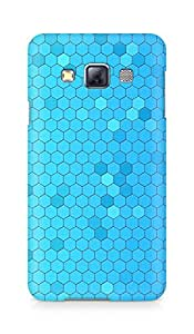 Amez designer printed 3d premium high quality back case cover for Samsung Galaxy A3 (Pattern Blue Honeycomb)