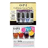 OPI Nail Polish Mini Kits 2 x(4 x 3.75ml) - CELEBRATE GREAT NAILS + OPI SHEER TINTS TOP COATS