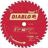 Freud D0740X Diablo 7-1/4-inch 40T ATB Finish/Plywood Thin Kerf Saw Blades, 10PK
