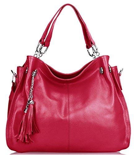 saierlong-womens-european-and-american-style-rose-red-cowhide-messenger-bag-handbag-shoulder-bag