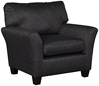 Sofab Shag II Upholstered Black Pepper Modern Armchair