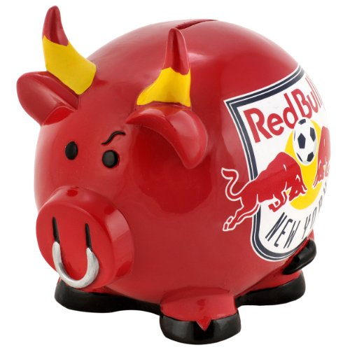 Mls new york red bulls resin large thematic piggy bank sports related - Resin piggy banks ...