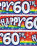 Happy 60th Birthday Party Wall Banner 3 Banners Age 60 Party Decoration