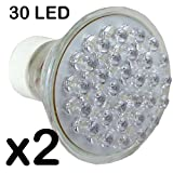 30 LED GU10 Light Bulb - Warm White LED Lights (2 Packs)