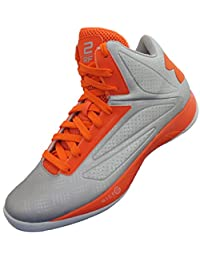Under Armour Mens UA TB Micro G Torch Basketball, Metallic Silver/Orange, 12 D(M) US