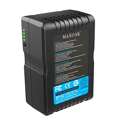 MAXOAK 177 (12000mAh/14.8V) V Mount Battery for Sony Video Camera /Sony Camcorder and More