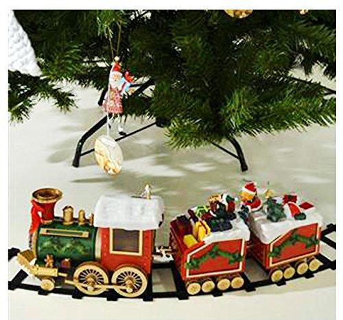 Trenino natalizio con doni di babbo natale per decorare la for Luci per decorare la stanza