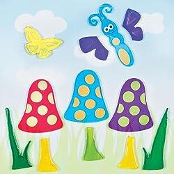 GelGems Mushrooms & Butterflies Small Bag Gel Clings