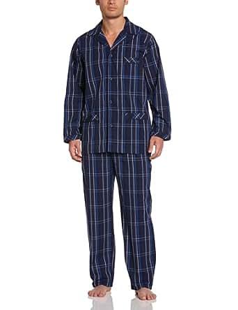 Mariner - pyjama long chaîne et trame - coton - homme - bleu (nuit) - 3