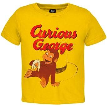 Amazon Com Curious George Eating Banana Toddler T Shirt