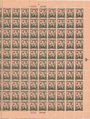 Red Cross 1881-1931 Sheet of 100 x 2 Cent US Postage Stamps NEW Scot 702