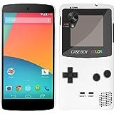 Etui de cr�ateur pour LG Google Nexus 5 - Etui / Coque / Housse de protection blanc en Plastique Rigide (arri�re rigide) avec motif cool gameboy couleur