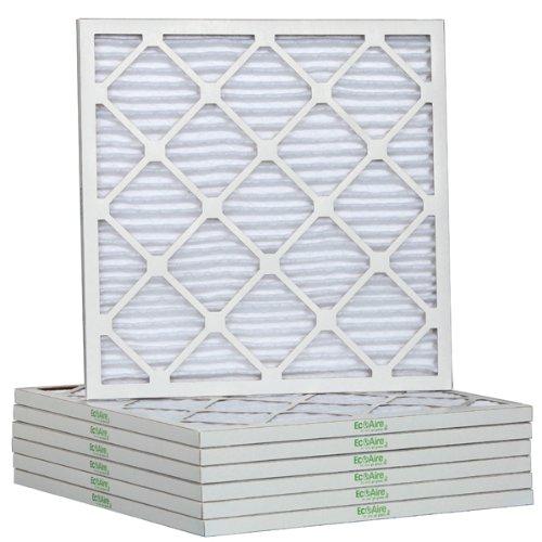 Eco-Aire 19 7/8 x 21 1/2 x 1 Premium MERV 13 Pleated Air Conditioner Filter, 6 Pack