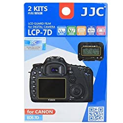 JJC LCP-7D professional ultra hard polycarbonate LCD Guard Film Screen Protector for Canon EOS 7D DSLR Camera 2 Pack