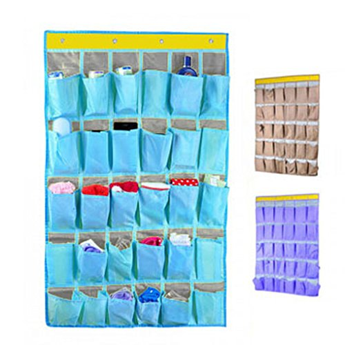 Bxt high quality waterproof oxford multi layer 30 pockets for Pochette murale de rangement