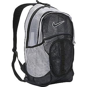 Nike Brasilia 5 XL Mesh Backpack - Black/Matte Silver