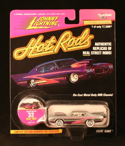 GOIN' GOAT * SILVER * Johnny Lightning 1997 HOT RODS Release Four 1:64 Scale Die Cast Vehicle