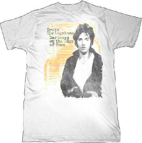 0f74c3870fe8 Bruce Springsteen 'Darkness' White T-Shirt (Medium)