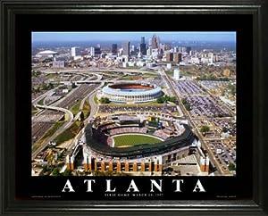 Atlanta Braves - Turner Field Aerial - Lg - Framed Poster Print by Laminated Visuals