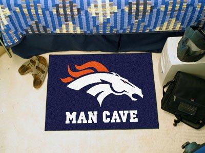 """Denver Broncos Man Cave Starter Rug 19""""x30"""" - FAN-14297"""