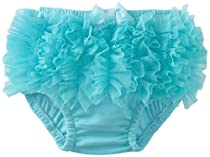 Mud Pie Baby-Girls Newborn Chiffon Diaper Cover, Turquoise, 0-6 Months